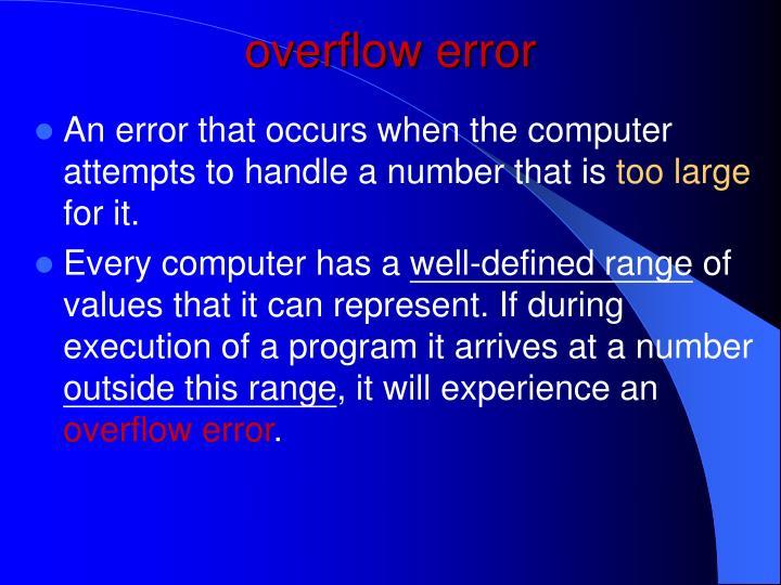overflow error