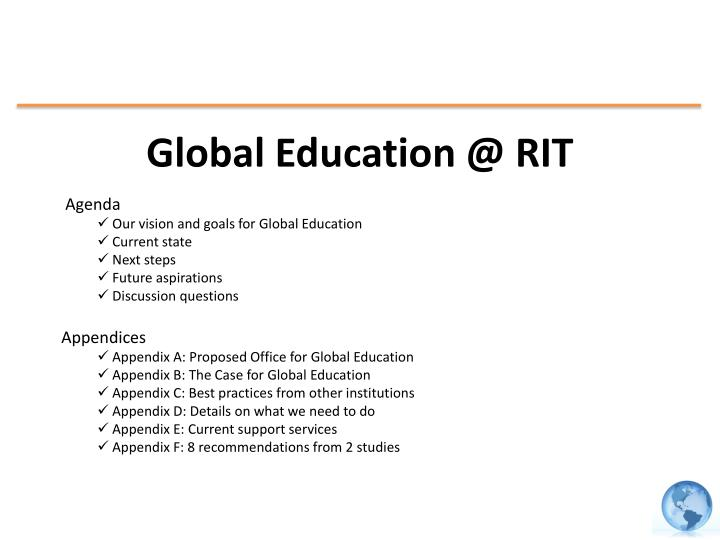 global education @ rit n.
