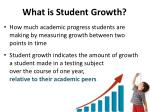 what is student growth