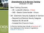 amendments to in service training 6vac20 171 360