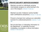 private security services business5