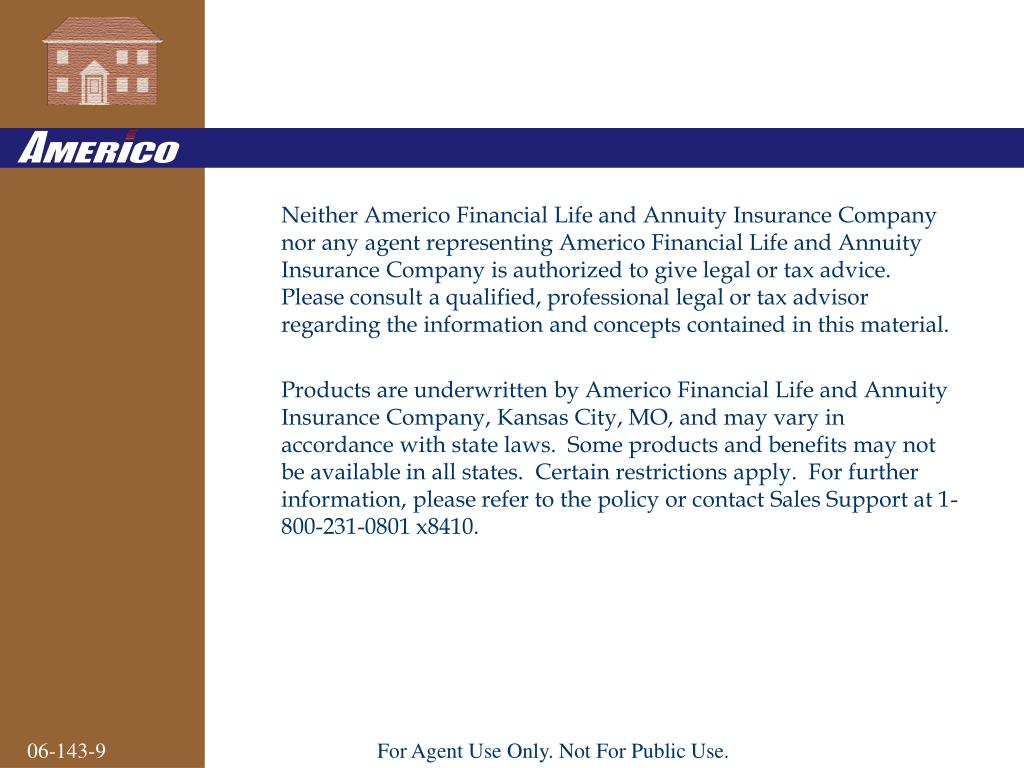 Ppt Americo Financial Life And Annuity Insurance Company