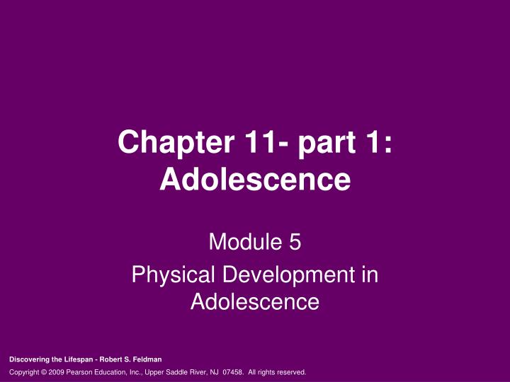 chapter 11 part 1 adolescence n.