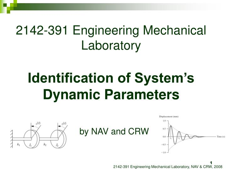 2142 391 engineering mechanical laboratory identification of system s dynamic parameters n.