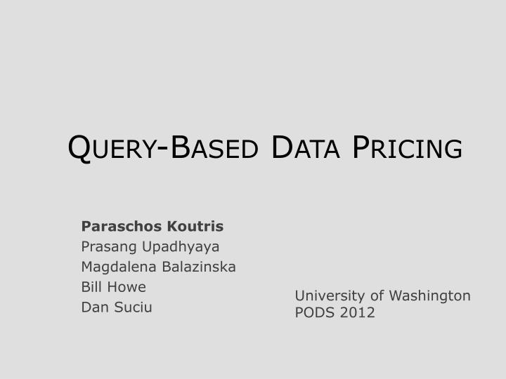 query based data pricing n.