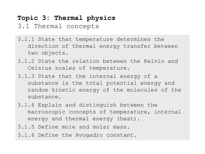 topic 3 thermal physics 3 1 thermal concepts n.