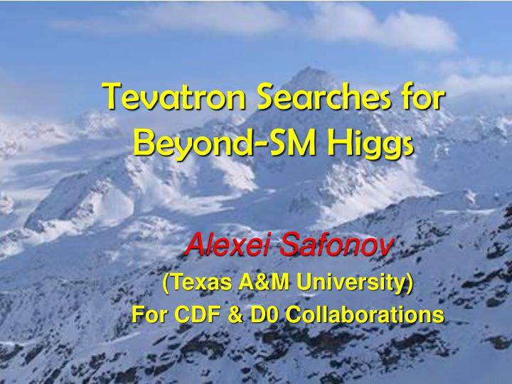 tevatron searches for beyond sm higgs n.