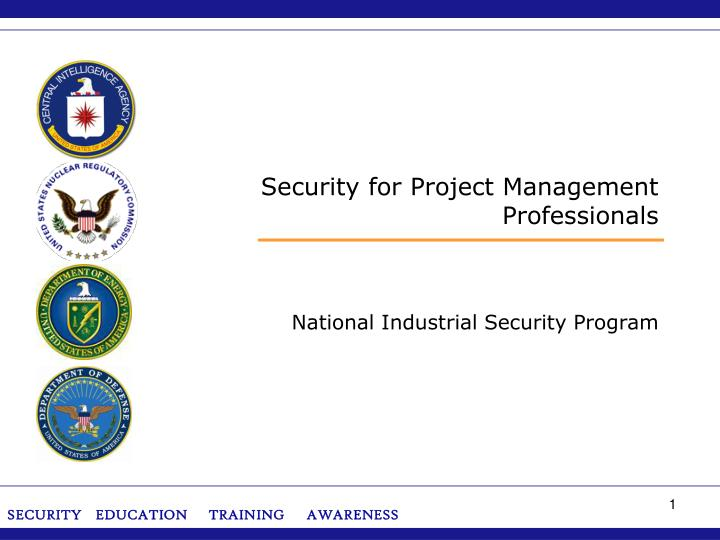 security for project management professionals n.