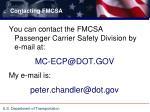 contacting fmcsa