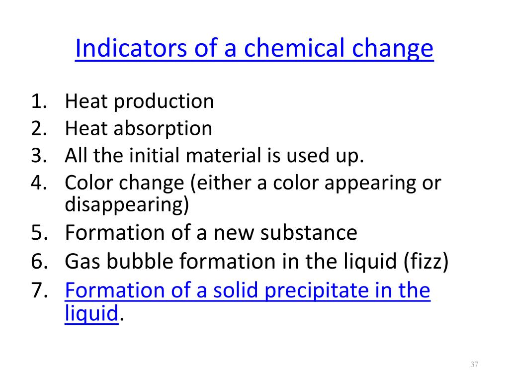 indicators-of-a-chemical-change-l Formation Of A Precipitate Chemical Change Example on chemical reaction,