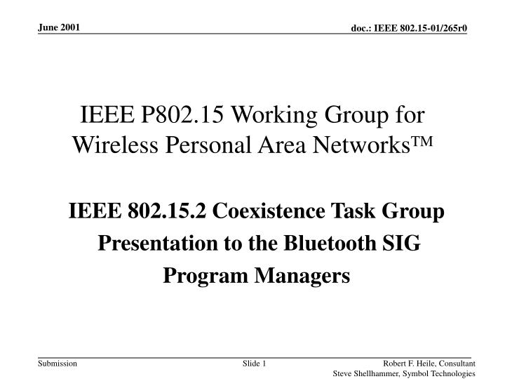 ieee p802 15 working group for wireless personal area networks tm n.