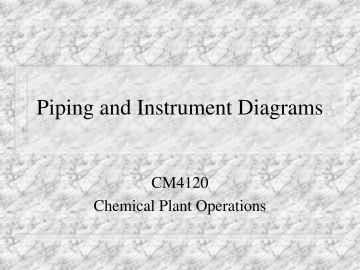 piping and instrument diagrams n.