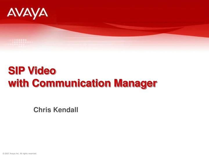 sip video with communication manager n.