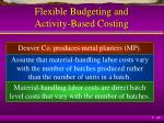 flexible budgeting and activity based costing1