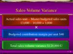 sales volume variance2