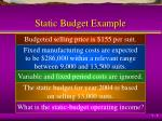 static budget example1