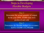 steps in developing flexible budgets1
