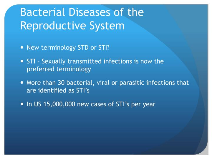 Bacterial Diseases of the Reproductive System