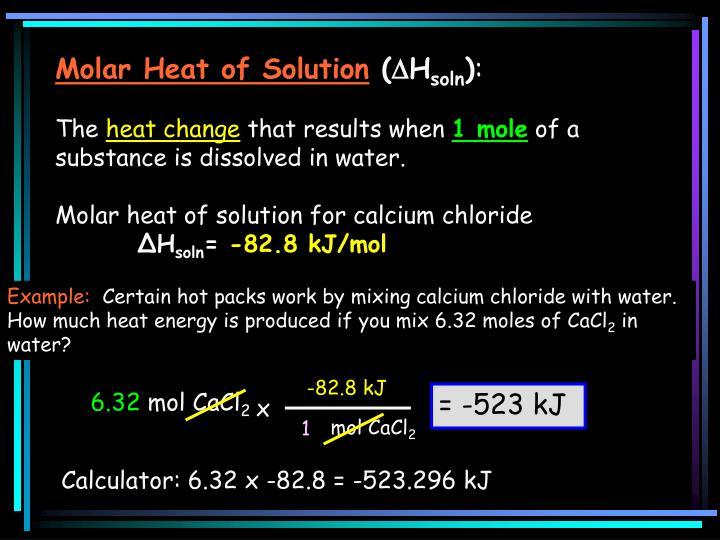 Molar Heat of Solution