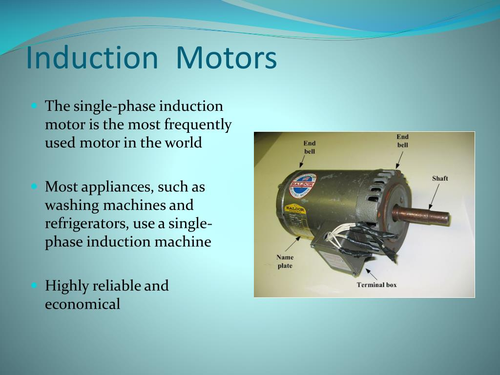 Practical application of single phase induction motor