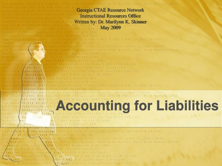 accounting for liabilities n.