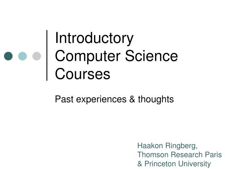 introductory computer science courses n.