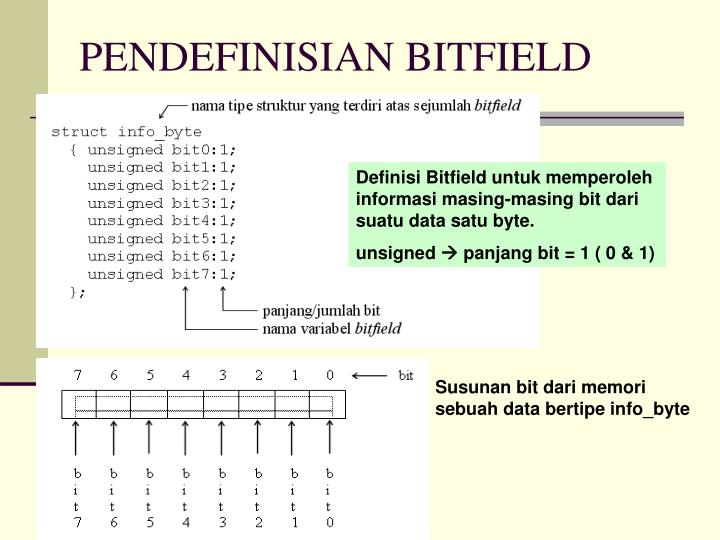 PENDEFINISIAN BITFIELD
