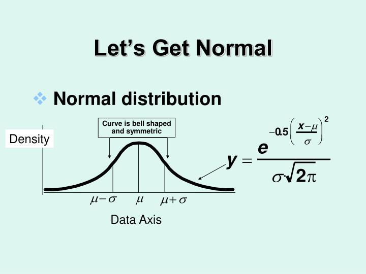 Let's Get Normal