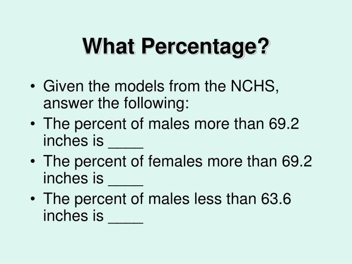 What Percentage?