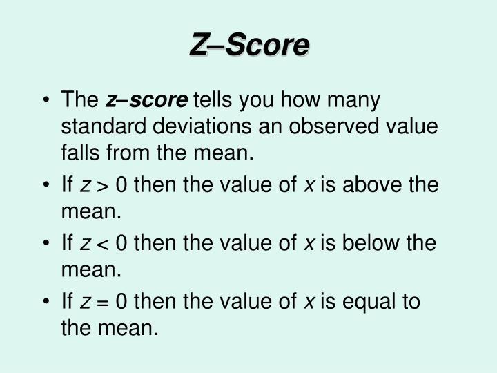 Z–Score