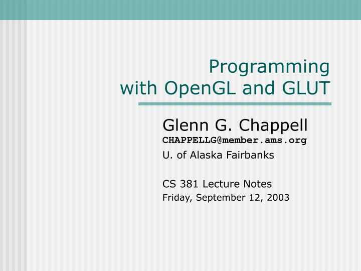 programming with opengl and glut n.