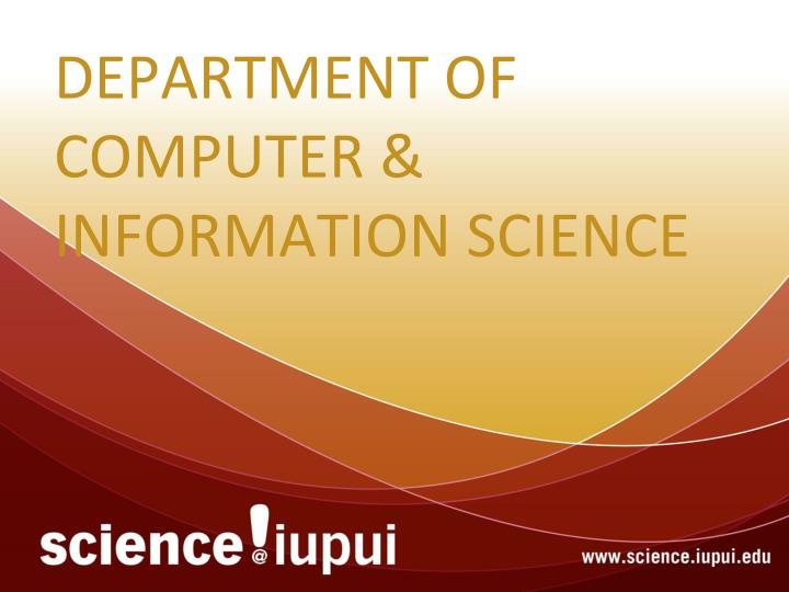 department of computer information science n.