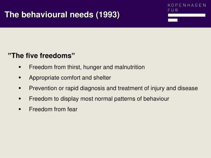"""""""The five freedoms"""""""