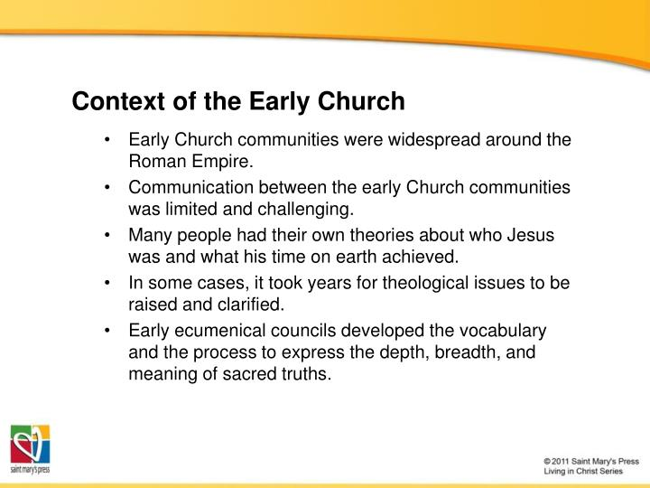 Context of the early church