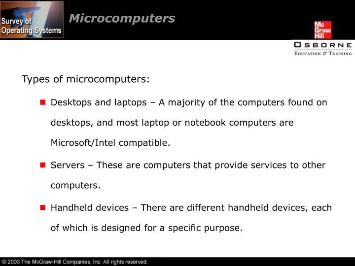 Microcomputers