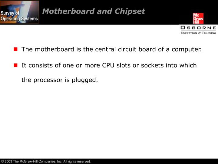 Motherboard and Chipset