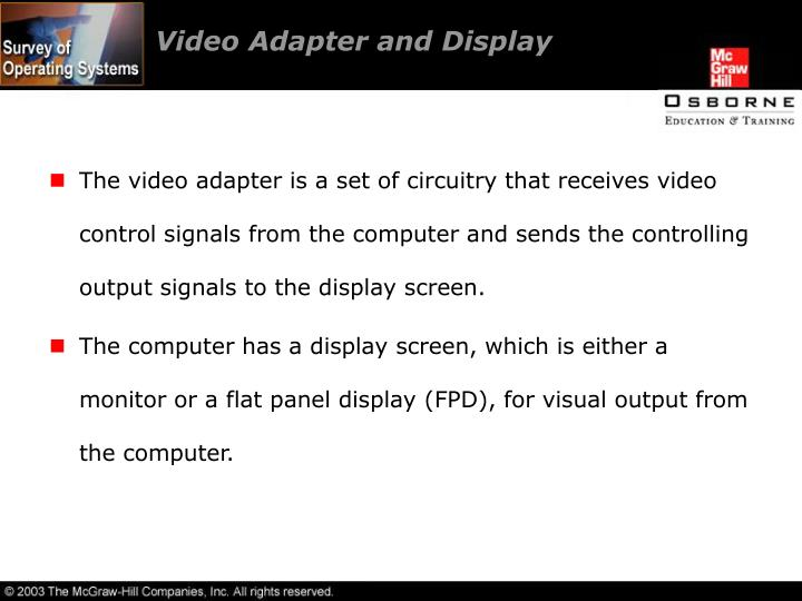 Video Adapter and Display