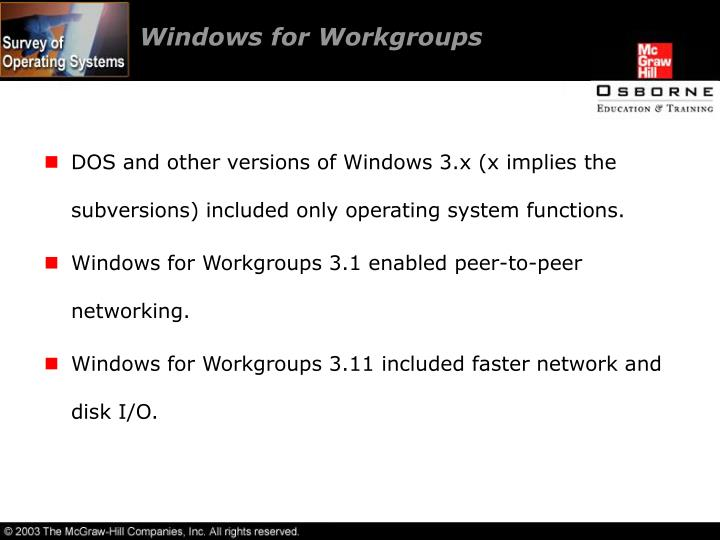 Windows for Workgroups