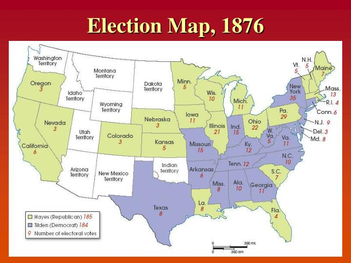 Election Map, 1876