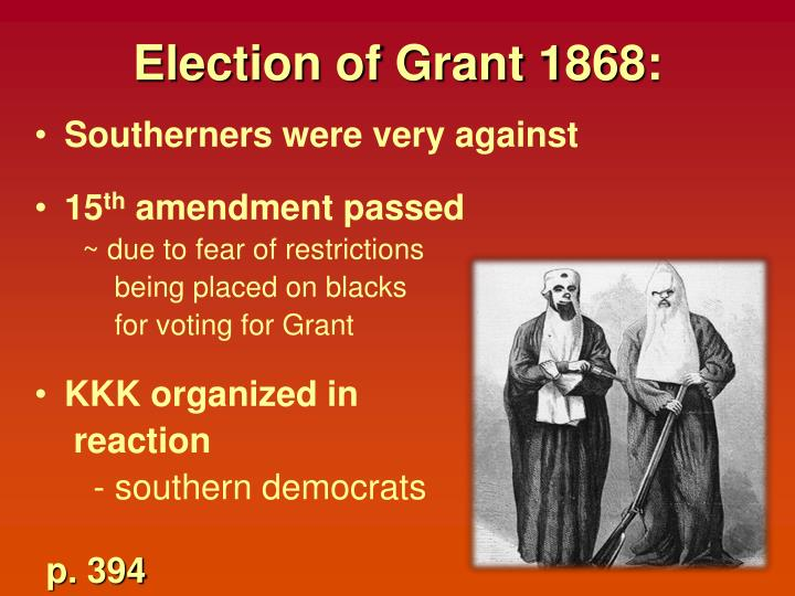 Election of Grant 1868: