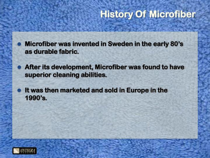 History Of Microfiber
