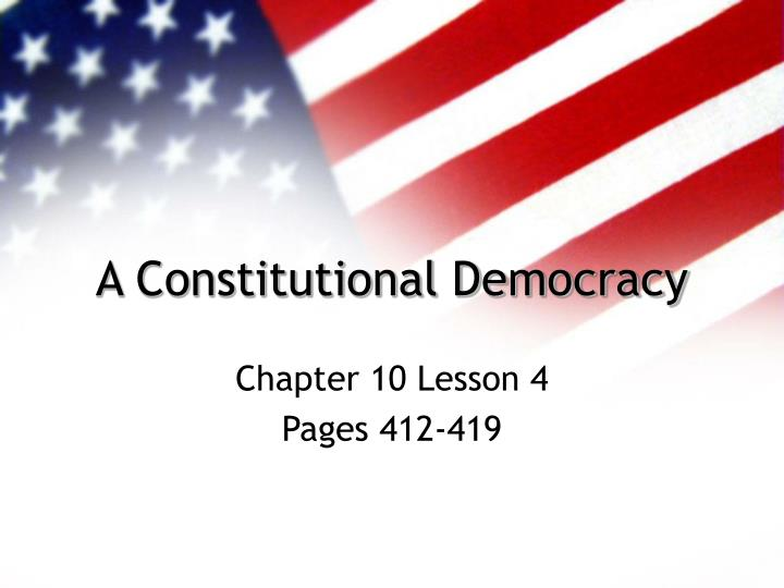 elements of constitutional democracy essay The japanese constitution vindicates an important vision for developmental democracy its core principle is the right of living in peace, which is a conjoined expression of respect for basic human rights, permanent pacifism, and national (popular) sovereignty (or autonomy.