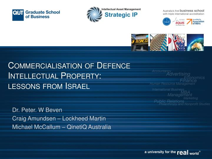 commercialisation of defence intellectual property lessons from israel n.