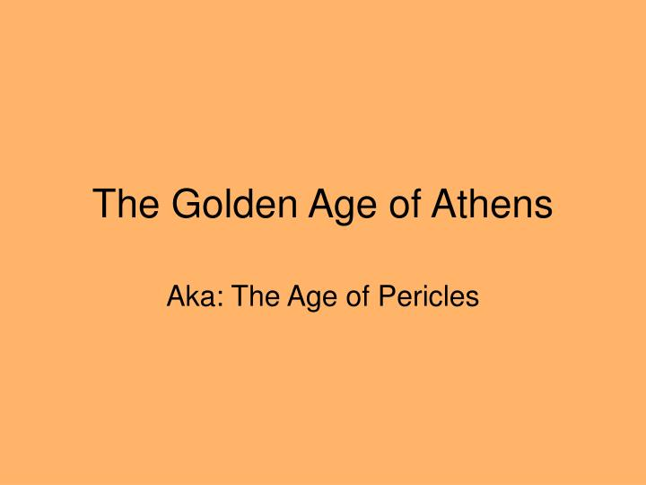 the golden age of athens n.