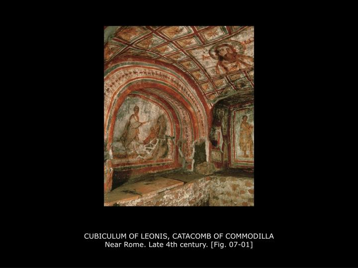 cubiculum of leonis catacomb of commodilla near rome late 4th century fig 07 01 n.