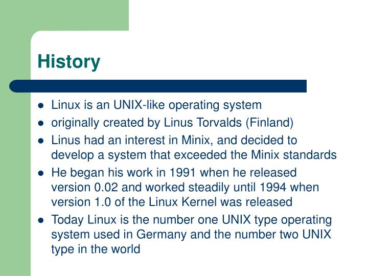 PPT - A Study on Linux Operating System PowerPoint
