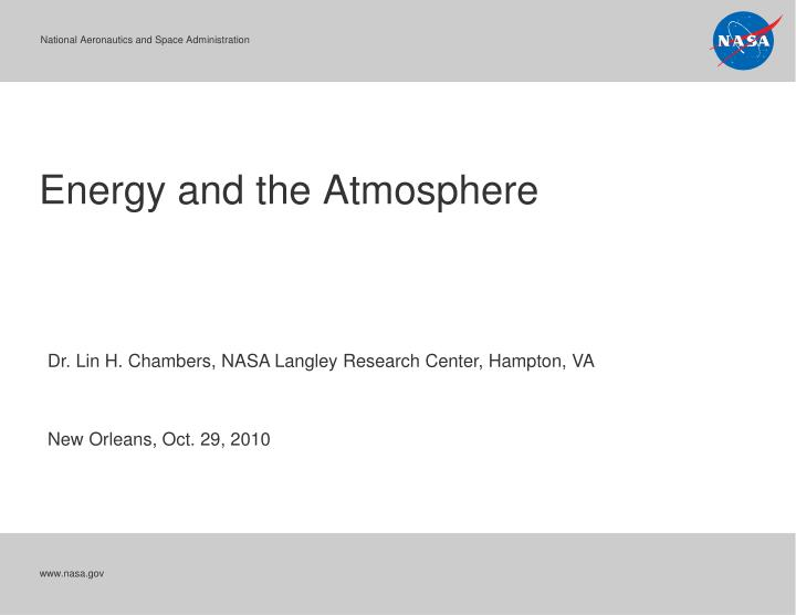 energy and the atmosphere n.