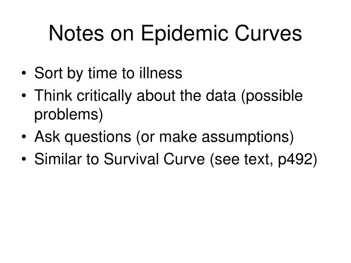 Notes on epidemic curves
