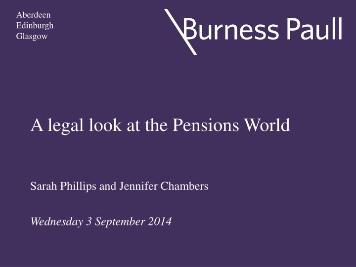 a legal look at the pensions world n.