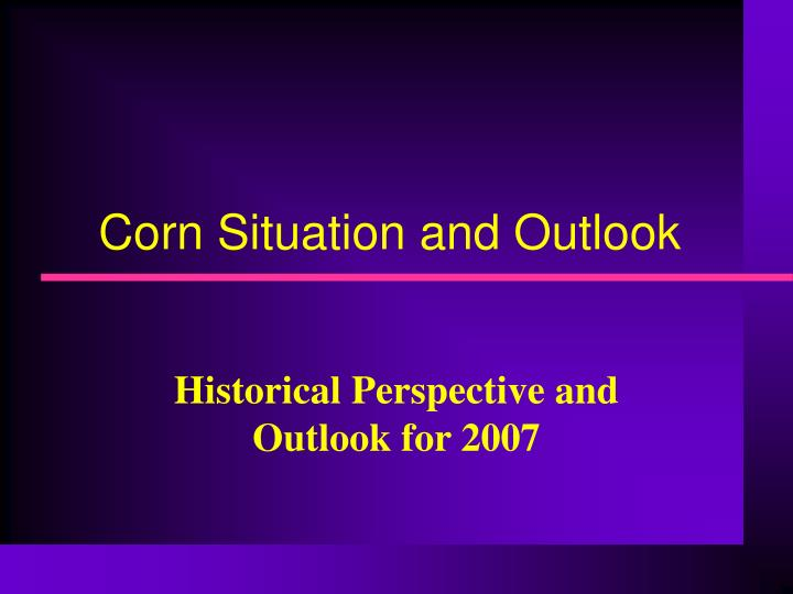 corn situation and outlook n.